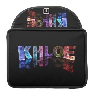 The Name Khloe in 3D Lights (Photograph) MacBook Pro Sleeve