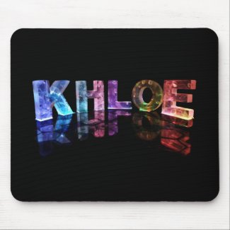 The Name Khloe in 3D Lights (Photograph) Mouse Pads