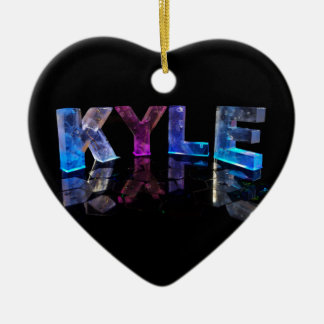 The Name Kyle in 3D Lights (Photograph) Christmas Ornament
