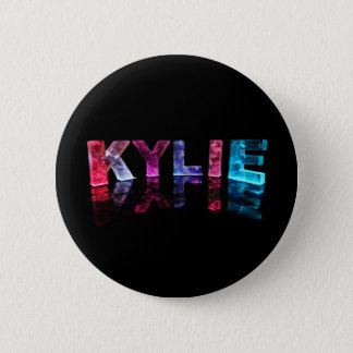 The Name Kylie in 3D Lights (Photograph) 6 Cm Round Badge