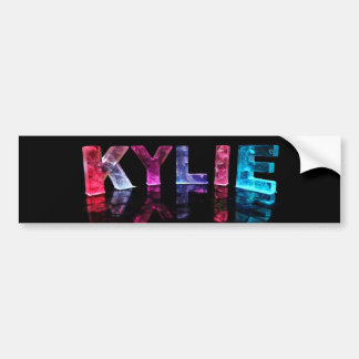 The Name Kylie in 3D Lights (Photograph) Bumper Sticker