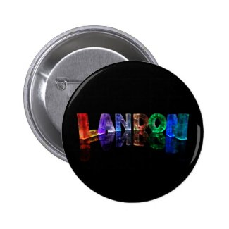 The Name Landon in 3D Lights (Photograph) Buttons