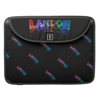 The Name Landon in 3D Lights (Photograph) MacBook Pro Sleeves