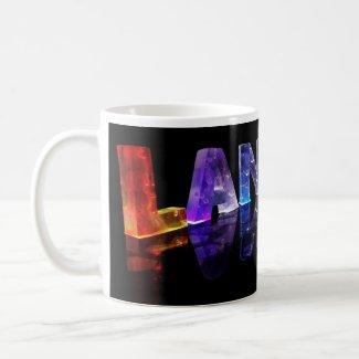 The Name Landon in 3D Lights (Photograph) Mug