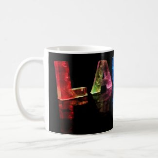 The Name Laura in 3D Lights (Photograph) Mugs