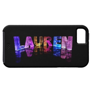 The Name Lauren in 3D Lights (Photograph) iPhone 5 Cases
