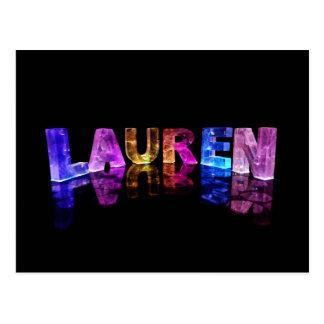 The Name Lauren in 3D Lights (Photograph) Postcard