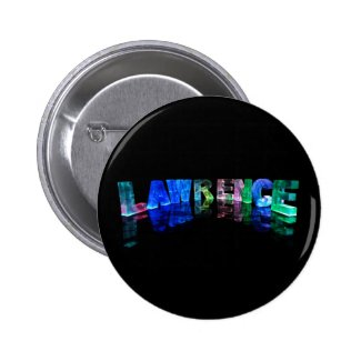The Name Lawrence in 3D Lights (Photograph) Buttons