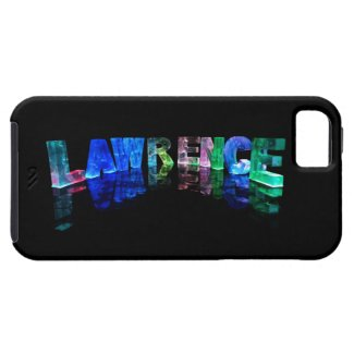 The Name Lawrence in 3D Lights (Photograph) iPhone 5 Case