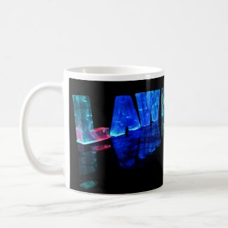 The Name Lawrence in 3D Lights (Photograph) Coffee Mug