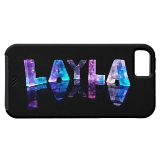 The Name Layla in 3D Lights (Photograph) iPhone 5 Case