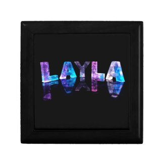 The Name Layla in 3D Lights (Photograph) Keepsake Boxes