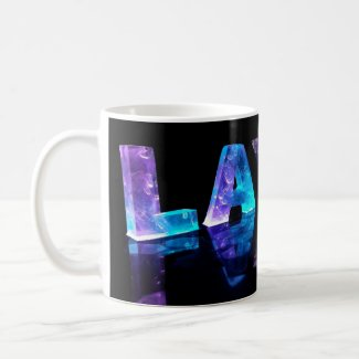 The Name Layla in 3D Lights (Photograph) Coffee Mugs
