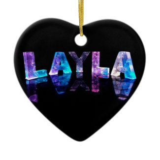 The Name Layla in 3D Lights (Photograph) Christmas Ornaments