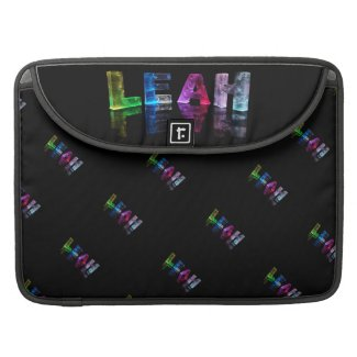 The Name Leah in 3D Lights (Photograph) MacBook Pro Sleeves