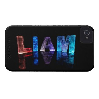 The Name Liam in 3D Lights (Photograph) Case-Mate iPhone 4 Case