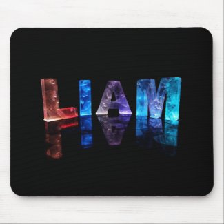 The Name Liam in 3D Lights (Photograph) Mouse Pad