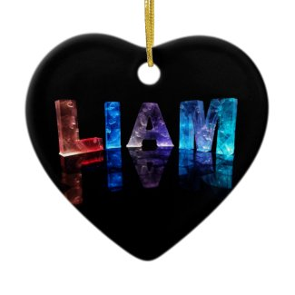 The Name Liam in 3D Lights (Photograph) Christmas Ornaments