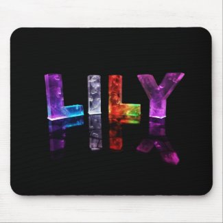 The Name Lily in 3D Lights (Photograph) Mousepad