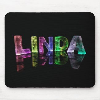 The Name Linda in 3D Lights (Photograph) Mouse Pads