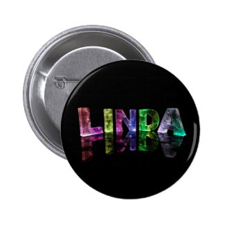 The Name Linda in 3D Lights (Photograph) Pins