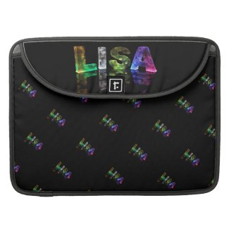 The Name Lisa in 3D Lights (Photograph) MacBook Pro Sleeves