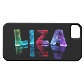 The Name Liza in 3D Lights (Photograph) iPhone 5 Covers