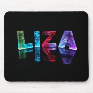 The Name Liza in 3D Lights (Photograph) Mouse Pad