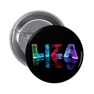 The Name Liza in 3D Lights (Photograph) Pins