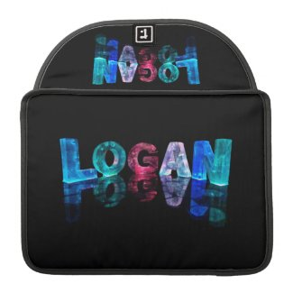 The Name Logan in 3D Lights (Photograph) Sleeve For MacBook Pro