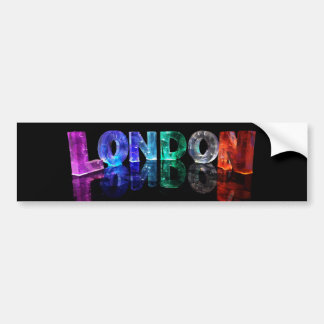 The Name London in 3D Lights (Photograph) Bumper Sticker