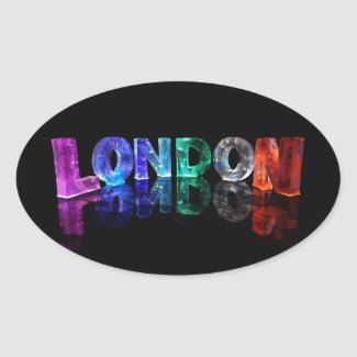 The Name London in 3D Lights (Photograph) Stickers