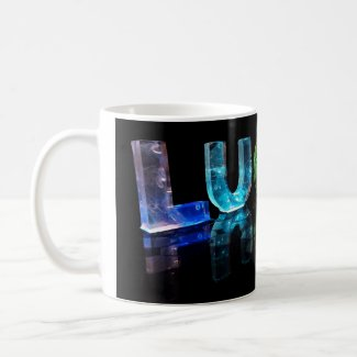 The Name Lucas in 3D Lights (Photograph) Mug