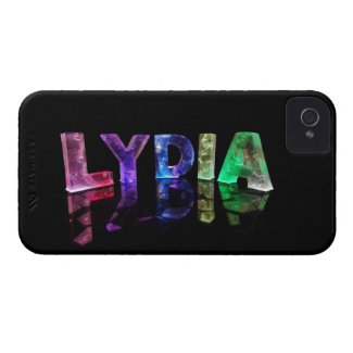 The Name Lydia in 3D Lights (Photograph) iPhone 4 Cover