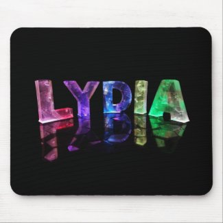 The Name Lydia in 3D Lights (Photograph) Mouse Mat