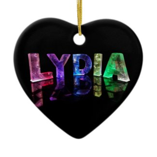 The Name Lydia in 3D Lights (Photograph) Christmas Tree Ornament