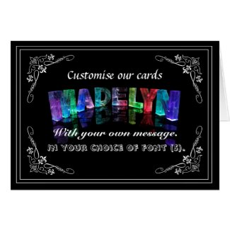The Name Madelyn in 3D Lights (Photograph) Greeting Card
