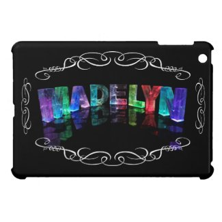 The Name Madelyn in 3D Lights (Photograph) Cases For iPad Mini