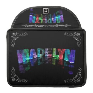 The Name Madelyn in 3D Lights (Photograph) Sleeve For MacBooks