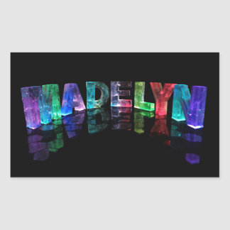 The Name Madelyn in 3D Lights (Photograph) Rectangular Sticker