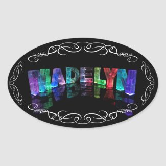 The Name Madelyn in 3D Lights (Photograph) Sticker