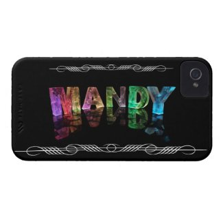 The Name Mandy in 3D Lights (Photograph) iPhone 4 Cases