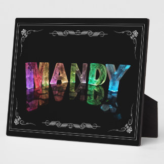 The Name Mandy in 3D Lights (Photograph) Plaque