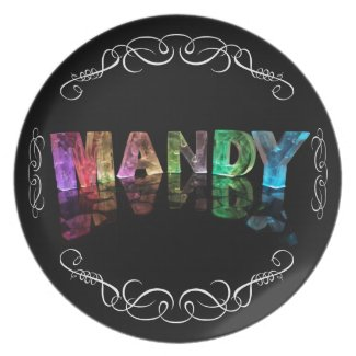 The Name Mandy in 3D Lights (Photograph) Plates