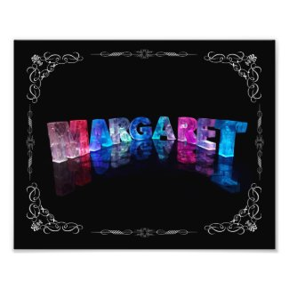 The Name Margaret in 3D Lights (Photograph)