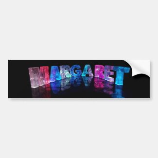 The Name Margaret in 3D Lights (Photograph) Bumper Sticker