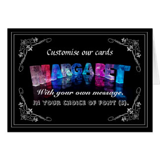The Name Margaret in 3D Lights (Photograph) Card
