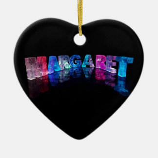 The Name Margaret in 3D Lights (Photograph) Christmas Ornament