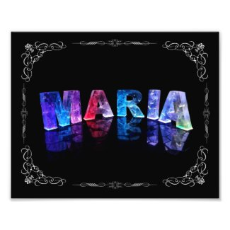 The Name Maria in 3D Lights (Photograph)