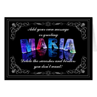 The Name Maria in 3D Lights (Photograph) Card